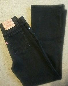LEVI'S 512 PERFECTLY SLIMMING BLACK WOMEN JEANS SIZE 6M