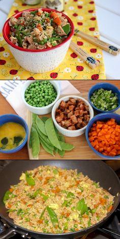 Veggie Pork Fried Rice - easily made vegetarian!