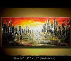 Original Abstract Painting Modern Textured by xiangwuchen on Etsy, $388.00