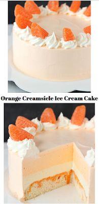 #RECIPE : ORANGE CREAMSICLE ICE CREAM CAKE -  #EasyDesserts #Recipe #KeralaRecipe #EasyRecipe #RecipestoTry #RecipeLove Dump Cake Recipes, Homemade Cake Recipes, Best Cake Recipes, Favorite Recipes, Best Vegan Cake Recipe, Chocolate Cake Recipe Easy, My Best Recipe, Cake Recipe From Scratch Easy, Vanilla Pound Cake Recipe