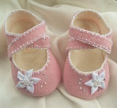 I MUST have these precious little shoes...do you think these will fit either of my girls?!