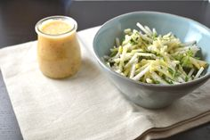 Not sure what to do with turnips? Try this Grated Turnip and Apple Salad. The crunch of the turnip and apple feels so refreshing and we've paired it with our Spicy Grapefruit Salad Dressing - delicious! Turnip Recipes, Plant Based Recipes, Raw Food Recipes, Turnip Salad, Grapefruit Salad, Apple Salad, Vegetarian Paleo, Honey Mustard