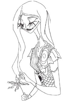 44 Best Coloring Pages Jack Sally Images Christmas Coloring