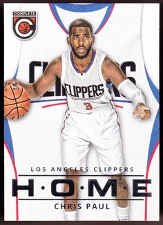 LOS ANGELES CLIPPERS 2015-16 PANINI COMPLETE HOME CHRIS PAUL NMMT FREE SHIPPING #LosAngelesClippers