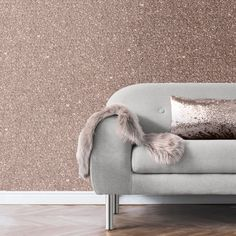 Add a glamorous touch to any room with this delightful metallic glitter wallpaper from Muriva. Muriva wallpaper is in stock at Go Wallpaper UK. Rose Gold Glitter Wallpaper, Sparkle Wallpaper, Plain Wallpaper, Wallpaper Uk, Glitter Roses, Sparkles Glitter, Textured Wallpaper, Glitter Paint Colours, Glitter Paint For Walls