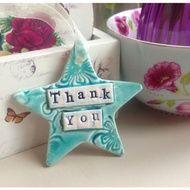 Ceramic Star, Thank You, end of term teacher gift.