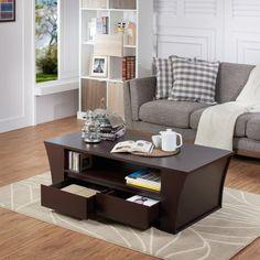 Furniture of America 2 Drawer Coffee Table