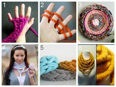 DIY Finger Knitting and Finger Knitting Projects. Direct links and Tutorials:  How to Knit with Fingers: Little Bird School School of Stitchcraft here.  How to Knit with Fingers