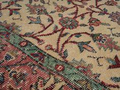 Dagasan - Beige Turkish Vintage Area Rug (5x9)