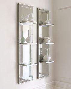 Mirrored Shelf Wall Panel