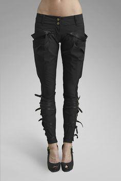 Gelareh Designs - Riding Pants // Spandex, Stretch Poly Weave, Sheep Skin