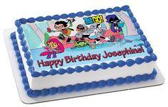 Teen Titans Go 3 Edible Birthday Cake Topper OR Cupcake Topper, Decor