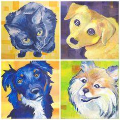 Original Art - Custom Pet Painting on Wood Panel by corlista on Etsy
