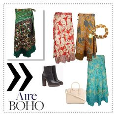 Magic Reversible Wrap Skirts by boho-chic-2 on Polyvore featuring Brunello Cucinelli and Givenchy