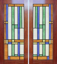 Frank Lloyd Wright Window Designs | ... Leaded Stained Glass Frank Lloyd Wright Abstract Windows Glass Design