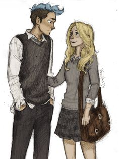 Teddy Lupin and Victoire Weasley // by Burdge. Teddy Lupin achieved the impossible task of becoming one of my favorites in the Harry Potter series merely by telling James Sirius Potter to scram.