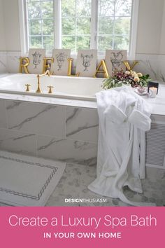 After a long stressful day, who wouldn't love to indulge in a spa bath? Here are 5 affordable ways to create a luxury bath in your home. French Farmhouse Decor, French Country House, French Country Decorating, Home Nyc, Country Interior Design, Dream Bath, Bathroom Inspiration, Bathroom Ideas, Loft