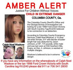 """16 Likes, 2 Comments - JFCWOV (@justice_for_children_wo_voices) on Instagram: """"❤️❤️❤️SAFELY LOCATED ❤️❤️❤️❤️. AMBERALERT CHILD IN EXTREME DANGER!! #COLUMBIACOUNTY, #Ga…"""""""