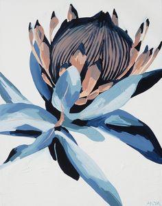 'Accepting This Reality' PRINT - flower - Graphic design - colors - colours - couleurs - palette - illustration - graphisme - art - visual - graphic - visuel - minimalist - minimaliste - layout - editorial - applied arts / Painting Inspiration, Art Inspo, Protea Art, Illustrations, Illustration Art, Floral Artwork, Guache, Canvas Prints, Art Prints