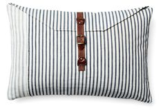 One Kings Lane - Coastal Cushions - Envelope 10x16 Pillow, Blue