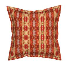 Serama Throw Pillow featuring JEWEL STRIPE 22 by shi_designs | Roostery Home Decor