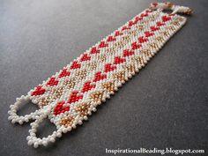 Valentine Heart Pattern Potawatomi Cuff