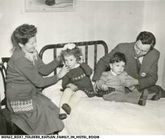 displaced persons and refugees The Kaplan Family on Their First Night in America :: Assorted Images from IHS Collections