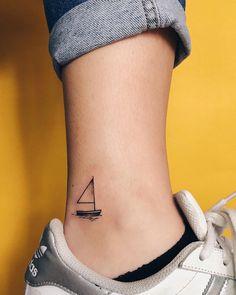 Minimal Tattoo Design,Modern Tattoos,Boat,Ink,Tattoo Designs,Mini Tattoos,Small Tattoos,Instagram,Tattoos For Women