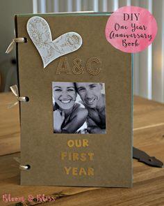 DIY One Year Anniversary Scrapbook - Bloom & Bliss