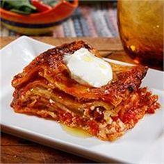 Wavy Lasagna with Italian Sausage and Marinara Sauce - Allrecipes.com