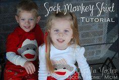 Angela Yosten: Sock Monkey Shirt Tutorial