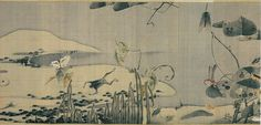 Ito Jakuchu. Vegetables and Insects. 1790. Detail.