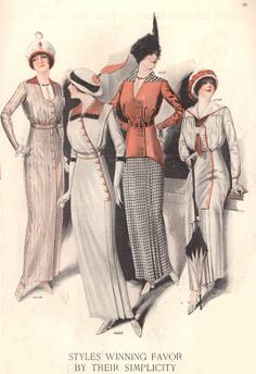 """By the early 1910s, nautical had established itself within the mainstream as a true style, and was appearing alongside other regular daywear. """"A sailor dress is always stylish,"""" says Sears in 1915."""