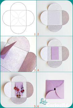 Bijoux : TUTO pour réaliser un  emballage SIMPLE & RAPIDE pour boucles d'oreilles !