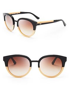 Tory Burch Panama Rounded Sunglasses   Bloomingdale's