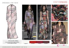 FW 208-19 Trend forecast: PATCHWORK DRESS, patchwork tapestry inspirations, development designs by 5forecaStore Fashion trend forecasting.
