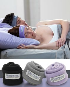 Like to listen to music in bed? SleepPhones by AcousticSheep are the most comfortable headphones to wear to sleep all night long.