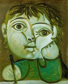 Pablo Picasso (Claude Picasso dibujando)