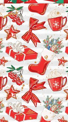 Find images and videos about wallpaper, background and christmas art on We Heart It - the app to get lost in what you love. Cute Fall Wallpaper, Christmas Phone Wallpaper, Holiday Wallpaper, Winter Wallpaper, Christmas Scenes, Christmas Art, Vintage Christmas, Illustration Noel, Christmas Illustration