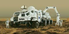 Mars Exploring Vehicle, Huy Tran Viet on ArtStation at https://www.artstation.com/artwork/Zl3NN