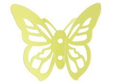 crochet papillon en métal pt,