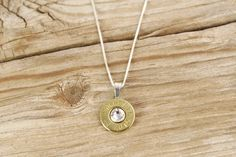 45 Auto Brass Bullet Head Sterling Necklace by BulletDesigns, $27.95