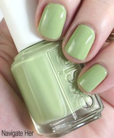Essie Navigate Her - got this mani today and LOVE this color for Spring.