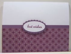 """Express Yourself """"best wishes"""" Stamp Set Whisper White Perfect Plum Pocketful of Posies Designer Series Paper Blackberry Bliss Ink"""