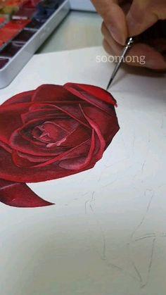 Watercolor Art Lessons, Watercolor Painting Techniques, Watercolour, Watercolor Paintings, Art Drawings Sketches Simple, Pencil Art Drawings, Art Painting Gallery, Diy Canvas Art, Flower Art