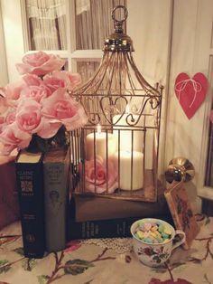 Cage d'oiseau porte bougies