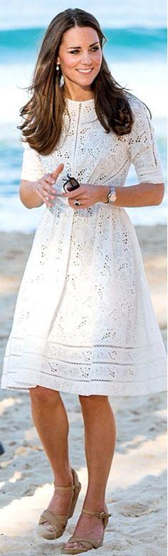 Kate Middleton's White Eyelet Zimmermann Dress