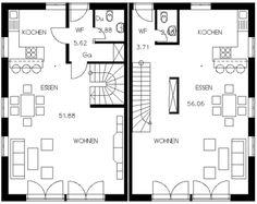 Grundrisse für Doppelhaushälften
