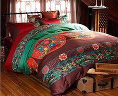 Home Fashion Luxury MeMoreCool colorato in stile bohémien, in cotone egiziano,-Set di biancheria da letto di alta qualità, elegante…