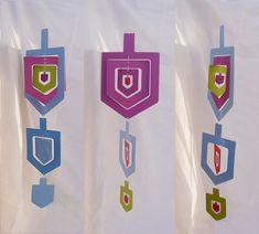 Hanukkah Nesting Dreidel Mobile Brights.  This page has many cute crafts for Hanukkah.